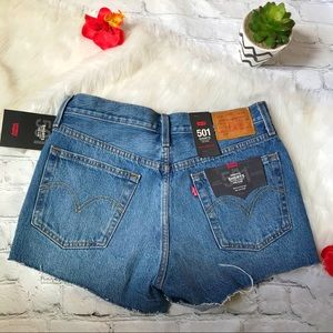Levi's 501 Buttonfly Distressed Cut Off Shorts